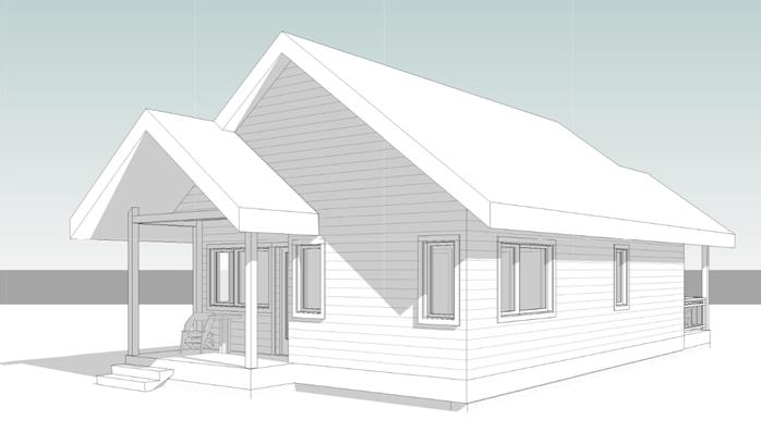 One bedroom cottage - Back