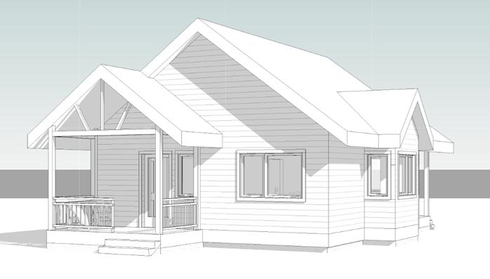 One bedroom cottage - Front