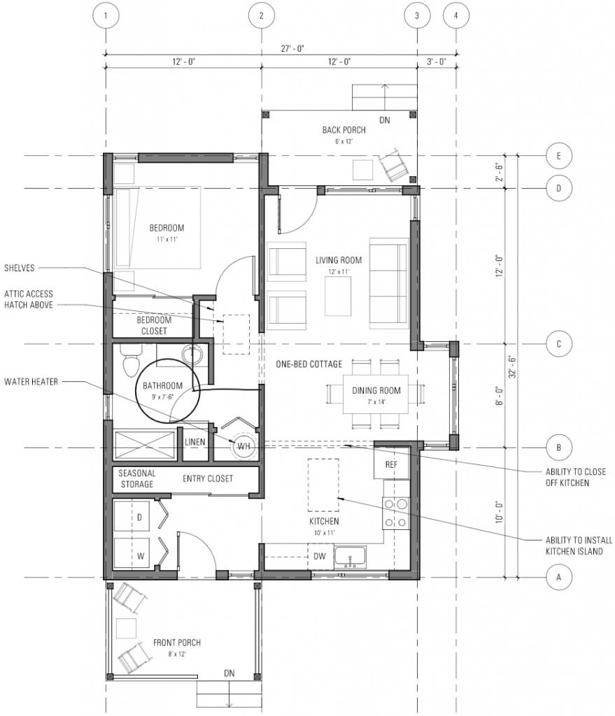 One bedroom cottage - Level 1