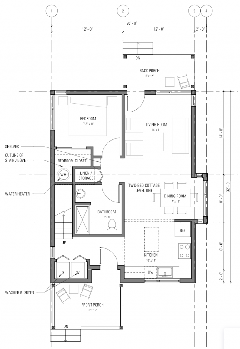 Two bedroom cottage - Level 1