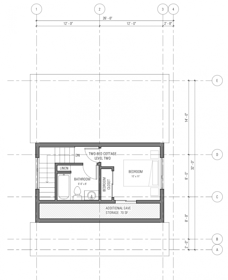 Two bedroom cottage - Level 2