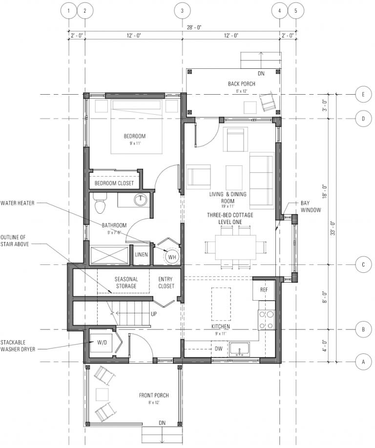 Three bedroom cottage - Level 1