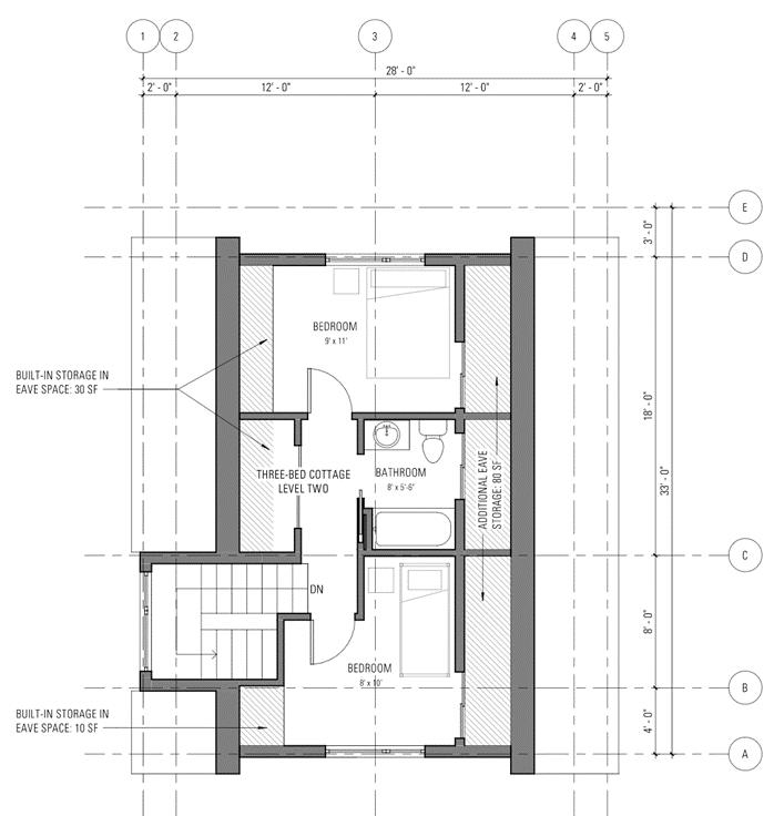 Three bedroom cottage - Level 2